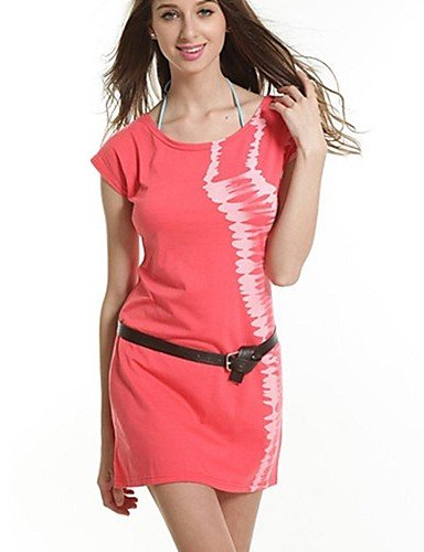 zhq Women s Fashion Cotton Licra Holiday Beach Falda + Belt blue ...