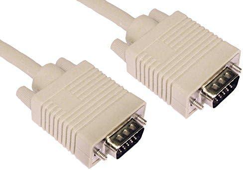 984 ft 3 m HD15 VGA Plug naar HD15 VGA Plug Beige Kabel Voor UNBRANDED Audio Video VGASVGA kabels