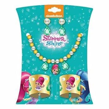 Shimmer & Shine Deluxe Jewelry Set Collar, Aretes Y Brazaletes De Puño Accesorios De Vestir