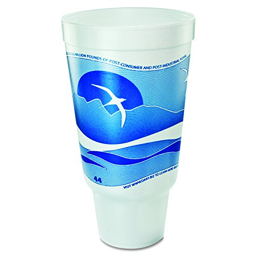 Dart 44AJ32H 44 oz Horizon Foam Cup (Case of 300) Dart Horizon Foam Cup