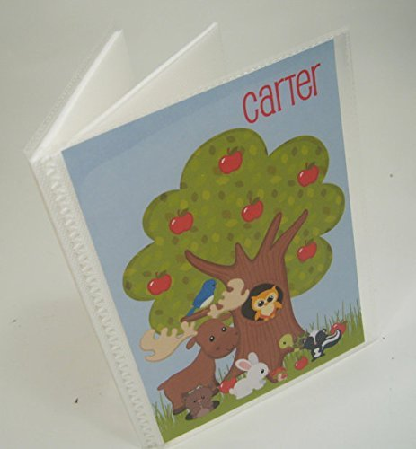 Baby Photo Album. 091. forest animals . Personalized baby shower gift. 4x6 or 5x7 picture album, Girl or boy photo book