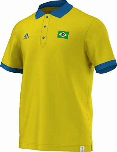 Adidas International club-replica Brazil Polo-Shirt Vivyel/bahblu