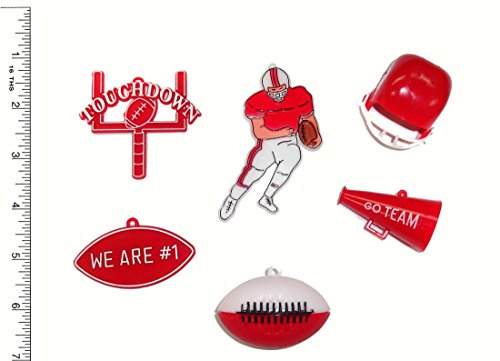 Football Embellishment Pack - Red