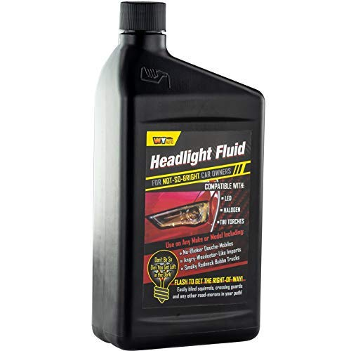 Headlight Fluid Car Gag Gift Makes Hilarious Fun of Automobile Inept Pals. A Hysterical Hit for Secret Santa and White Elephant Parties! Give Your Friend or Frenemy a Funny Prank Product for Cars!