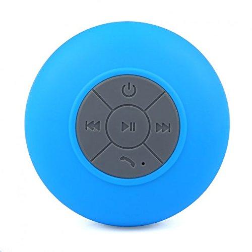 Tmvel Bluetooth ducha portátil manos libres con micrófono integrado–empaquetado al por menor–Azul