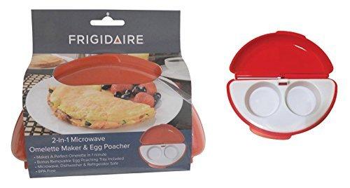 2 in 1 Microwave Omelette Maker with Bonus Egg Poacher BPA...