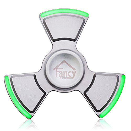 Fancy Home Anti-Anxiety Quiet Tri Fidget Hand Spinner EDC Toy for Relief from ADD ADHD, Anxiety and Boredom,Ceramic Bearing Last 5-8 Minutes Glow in The Dark Silver by Fancy Home (Image #8)