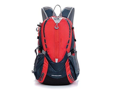 Junsonスポーツメンズレディーススポーツアウトドア防水バックパックハイキング登山バッグ(レッド) ストレージ   B07FNJD9DB