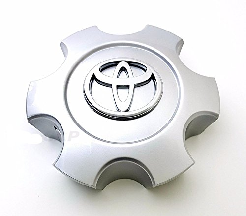 ONE NEW REPLACEMENT 2003-2006 Toyota Tundra 03-07 Sequoia wheel center cap hubcap Bright Silver Standard 69940 (Standard Wheel Cover Emblem)