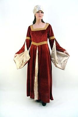 DRESS ME UP Disfraz, Vestido, Edad Media, señora Mayor Noble ...