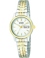 Citizen Womens Eco-Drive Expansion Band Watch with Day/Date, EW3154-90A