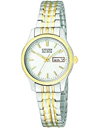 Eco-Drive Women's Stainless Steel Eco-Drive Watch with Expansion Band (Model: EW3154-90A)