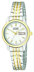 Citizen Eco-Drive Women's Stainless Steel Eco-Drive Watch with Expansion Band (Model: EW3154-90A)