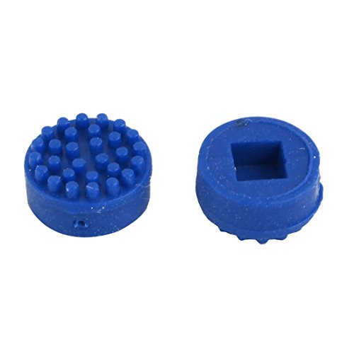 uxcell 7.0mm OD 4.0mm Height Plastic TrackPoint Blue Cap for HP Laptops 2 Pcs ()