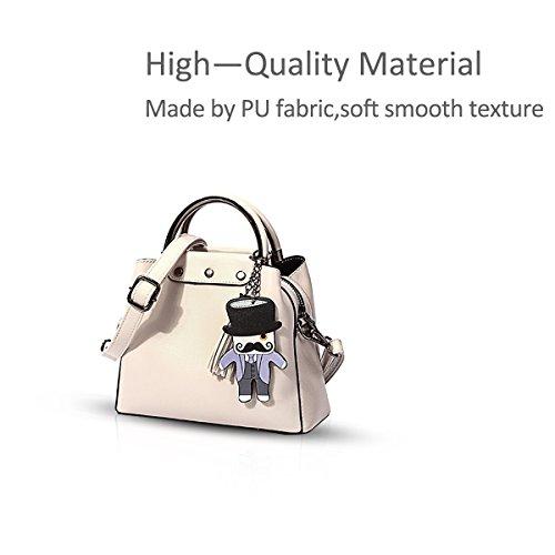 Shoulder 2018 Creamy fashion Top white Satchel white and handle Ladies new Womens Purses NICOLE Handbags Designer Tote Creamy Bag amp;DORIS Bag fqW5n5z