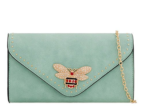 Haute Haute Diva Clutch For Bag For Black Ladies Blue Insect d7FWqxW