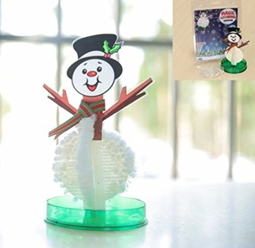 Magic Growing Snowman Blossom Paper Tree Blossom Paper Art Kids Educational Toy Decor by ()