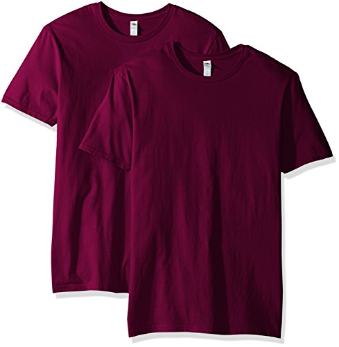Fruit of the Loom Men's Crew T-Shirt (2 Pack), Wild Plum, X-Large ()