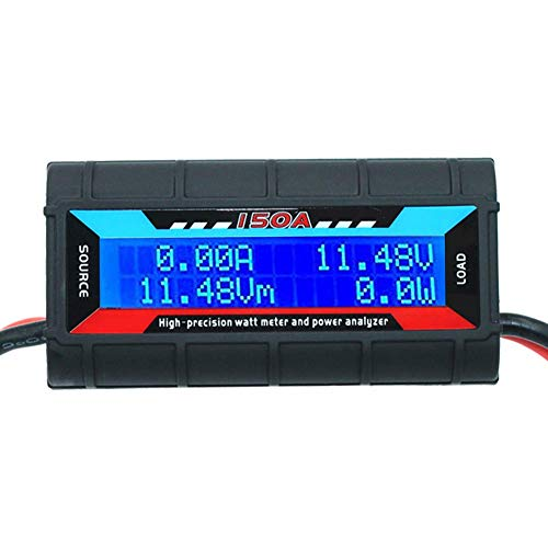 (RGBZONE 150 Amps Power Analyzer, High Precision RC with Digital LCD Screen for RC, Battery, Solar, Wind Power)
