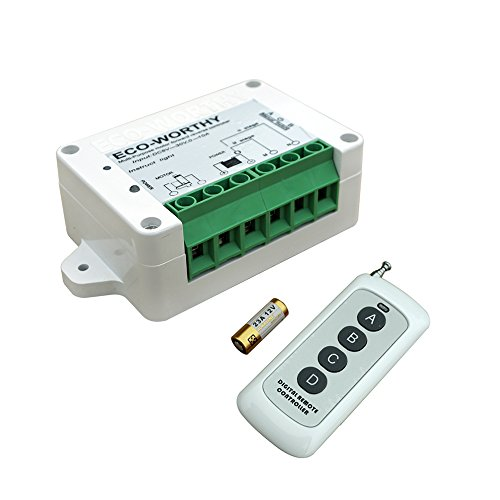 ECO-WORTHY 8V-35V DC Motor Controller Wireless Remote Positive Inversion Controller Kit for Linear Actuator