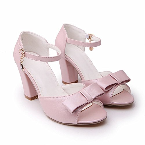 Shoes Cute Peep Women's Bows Sandals Carol Pink High Heel Toe Charm dqEn00wFU