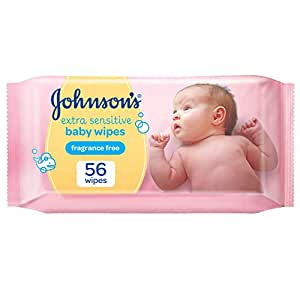 JOHNSON'S Baby, Wipes, Extra Sensitive, Pack of 56 wipes