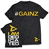 "Dedicated Nutrition T-Shirt ""#gainz"" - Trainings Shirt - Bodybuilding"