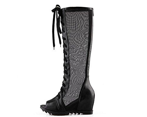 Interno Sandali Di Aumento Del Caricamenti Zipper Talloni Solare Back Xie Protezione Lady Boots Ad Sistema Della Alti Fish Shoes 38 Alto 5cm Particolari Scarpe Barile Degli 6 Whit wqE6qOH