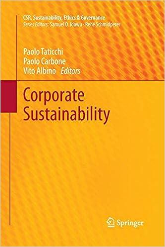 Corporate Sustainability (CSR, Sustainability, Ethics & Governance)