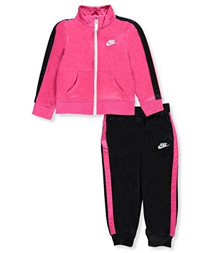 Nike Baby Girls' 2-Piece Tracksuit - black/vivid pink, 18 months