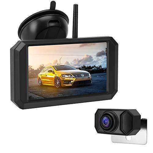 Jansite HD720P Digitale achteruitrijcameraset, 5 inch TFT-LCD-monitor met stevig signaal, waterdichte supernachtzicht…