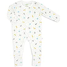 Simply Life Bamboo Baby - Sleep suit Long-Sleeved with Buttons and Folded Mittens & Footie