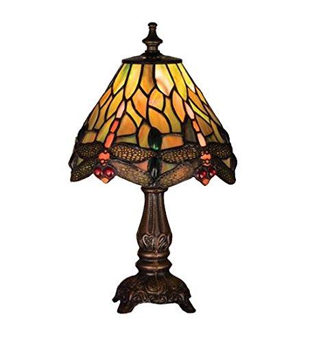 Meyda Tiffany 26613 Hanginghead Dragonfly Mini Accent Lamp - 11.5