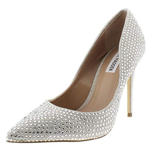 Steve Madden Womens Daisie Metallic Stiletto Heels Silver 10 Medium (B,M)