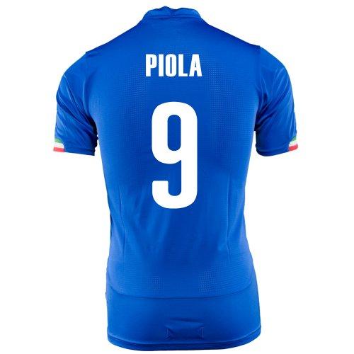 不均一ギャンブル私たちPUMA PIOLA #9 ITALY HOME JERSEY WORLD CUP 2014/サッカーユニフォーム イタリア ホーム用 ワールドカップ2014 背番号9 ピオラ