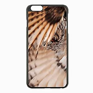 iPhone 6 Plus Black Hardshell Case 5.5inch - owl feathers wings flap Desin Images Protector Back Cover