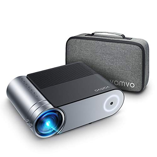 VAMVO Mini Projector, L4200 Portable Video Projector, Full HD 1080P Outdoor Movie Projector 3800 Lux with 50,000 Hrs, Compatible with Fire TV Stick, PS4, HDMI, VGA, AV and USB