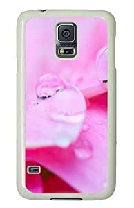 Samsung Galaxy S5 Case and Cover - Pink Crystal Drops PC Hard Case Cover for Samsung Galaxy S5 White