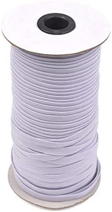 Amazon Com White 70 Yards Length 1 4 Width Braided Elastic Cord