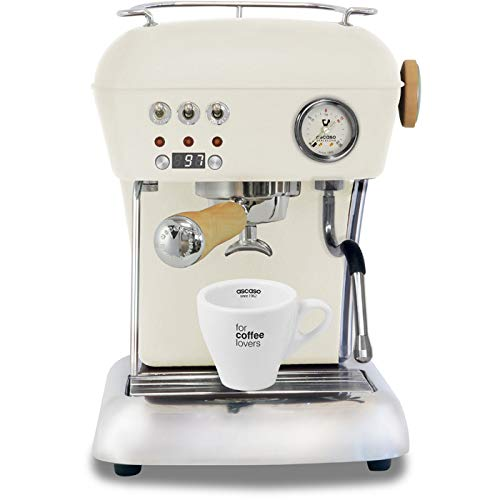 Ascaso Dream Up V3 Sweet Cream PID Wood Handle Semi-Automatic Espresso Machine – w/Set of Ascaso Cups