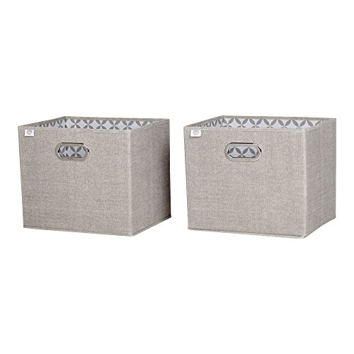South Shore Storit Chambray Fabric Storage Baskets (2 Pack), Taupe (Storage Shore)