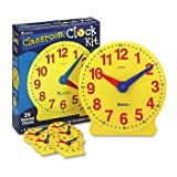 Learning Resources® Classroom Clock Kit CLOCK,CLASSROOM KIT (Pack of2)