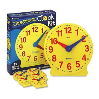 Learning Resources® Classroom Clock Kit CLOCK,CLASSROOM KIT (Pack of2) by LRNGRS