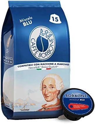 Caffè Borbone Miscela Blu – 90 capsule (6 confezioni da 15 capsule) – Compatibili Nescafè Dolce Gusto
