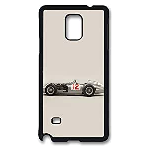 Galaxy Note 4 Case, 1954 Mercedes Fangio Simple Ideas Design Print Pattern Perfection Case [Anti-Slip Feature] [Perfect Slim Fit] Plastic Case Hard Black Covers for Samsung Galaxy Note 4