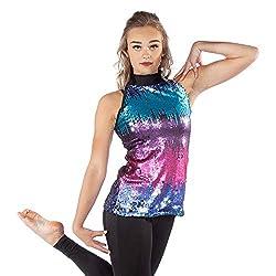 Dazzle Sequin Mockneck Top Dance Costumes