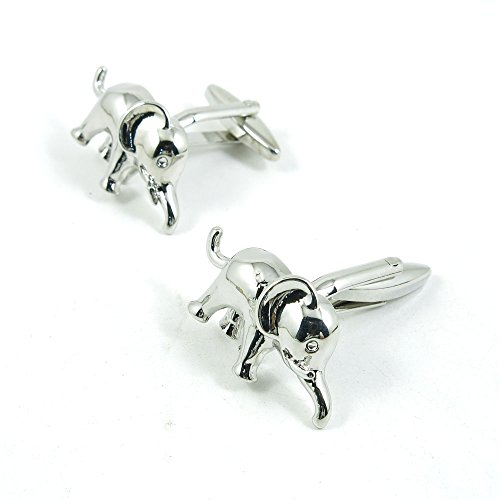 50 Pairs Cufflinks Cuff Links Fashion Mens Boys Jewelry Wedding Party Favors Gift 128UK0 Baby Elephant by Fulllove Jewelry