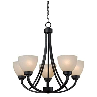 Kenroy Home 93195 Silk 5 Light 1 Tier Chandelier,