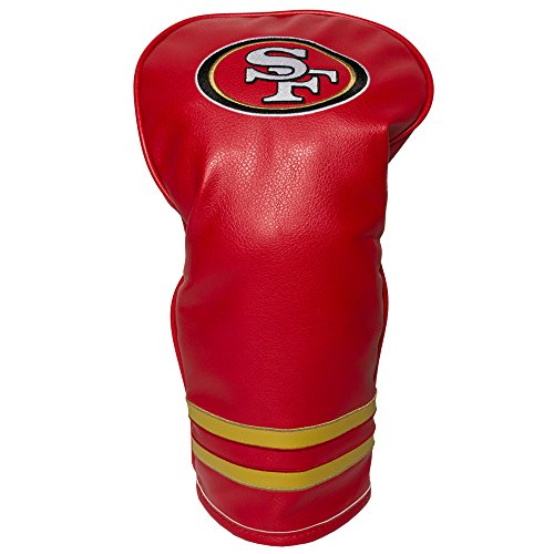 Team Golf NFL San Francisco 49ers Vintage Driver Golf Club Headcover, Form Fitting Design, Retro Design & Superb Embroidery
