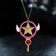 TranShop(TM) Card Captor Sakura Anime Kinomoto Star Wand Key Pendant Metal Necklace Cosplay